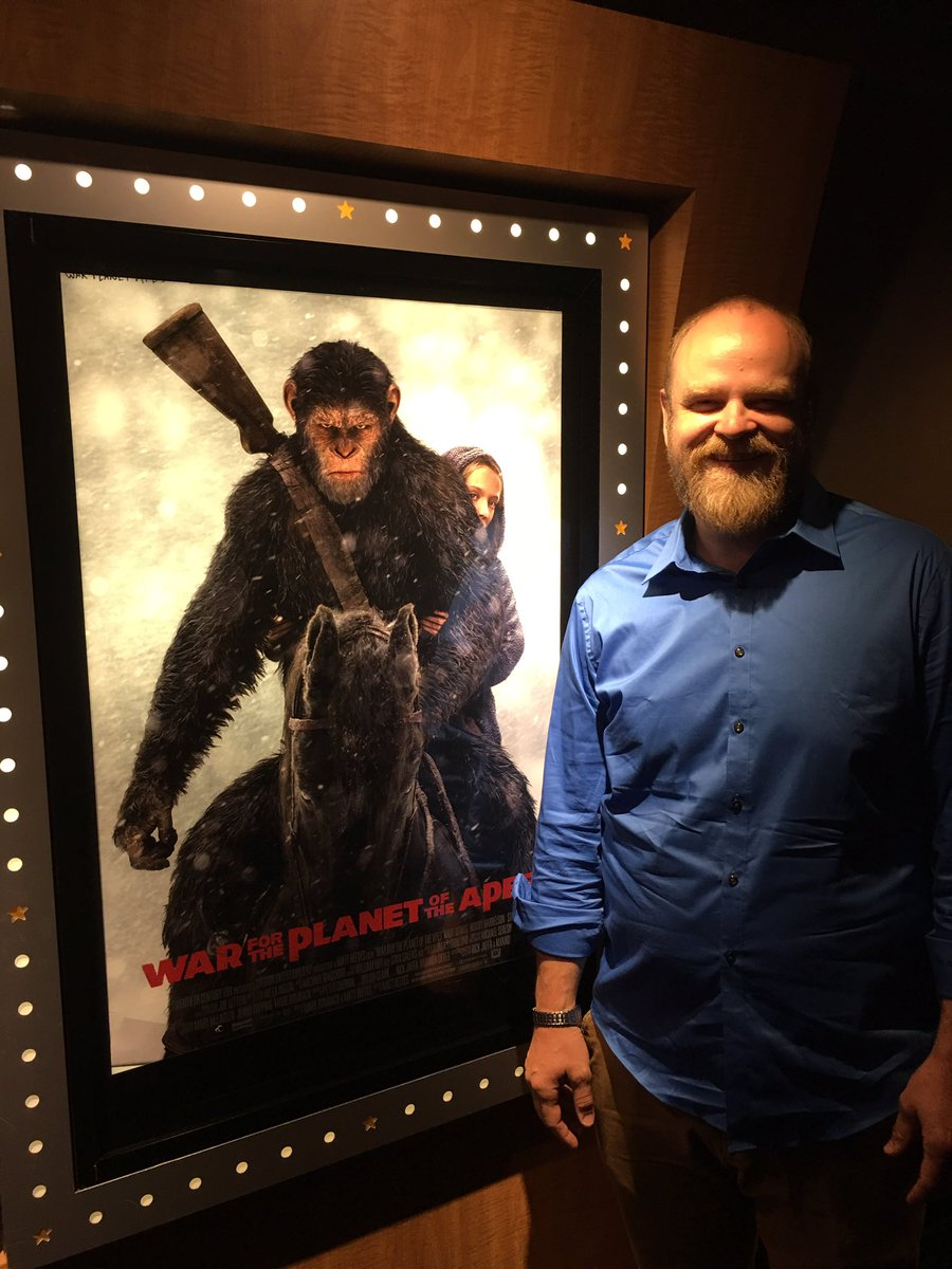 michael adamthwaite war for the planet of the apes movie tv tech geeks interview