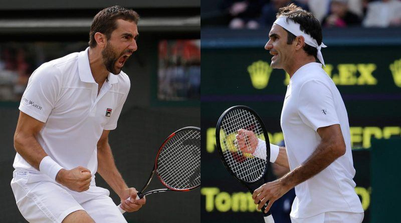 roger federer beats off marin cilic for wimbledon title 2017 images