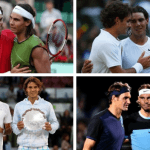 roger federer with rafael nadal through the years