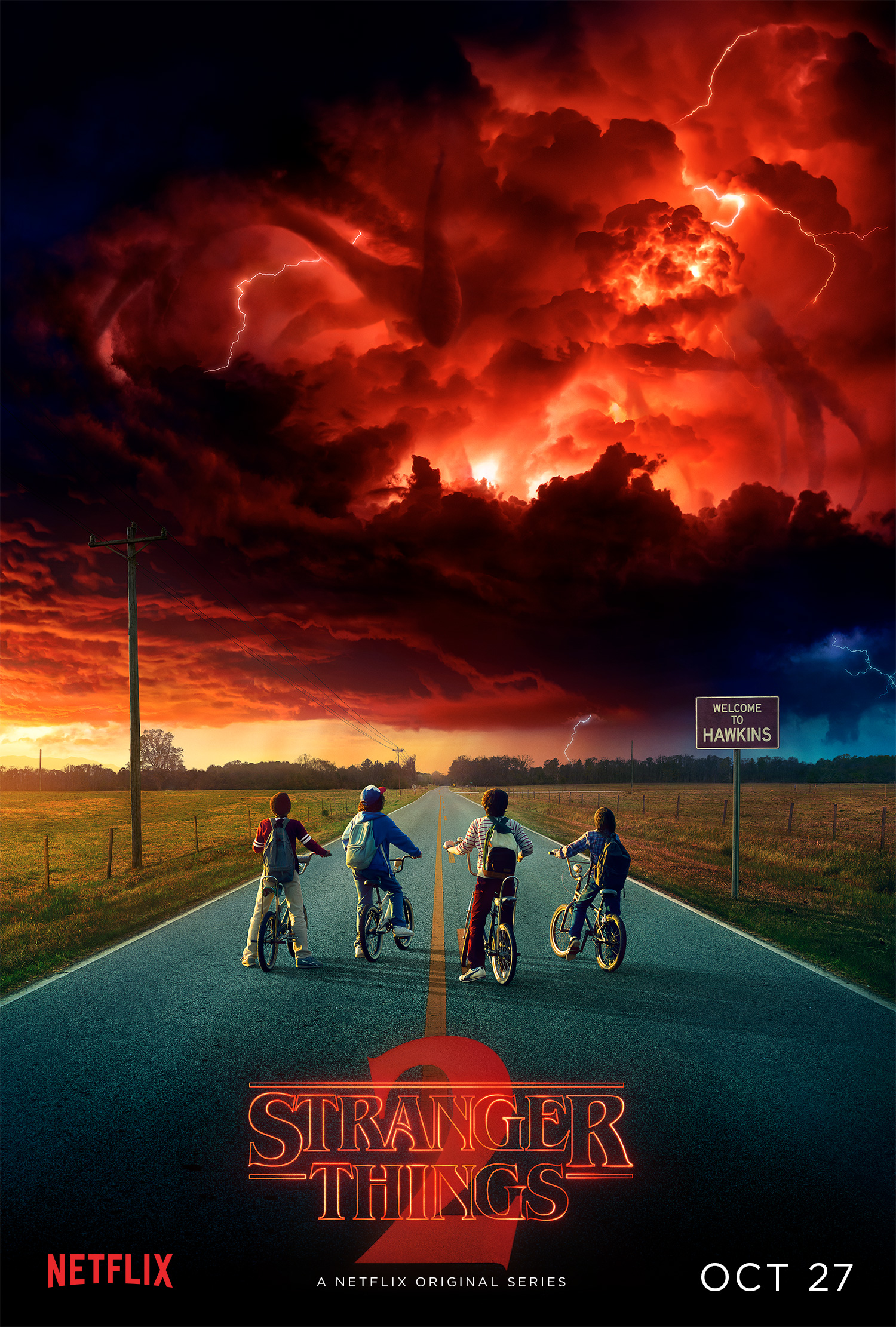 stranger things season 2 poster comic con movie tv tech geeks