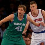 Kristaps Porzingis dream match with dirk nowitzki in south africa 2017 images