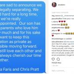 anna faris chris pratt split up on instagram 2017