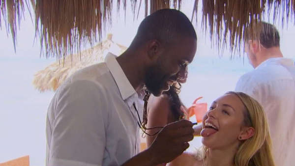 """If you have caught any of the Bachelor¬-related headlines over the past few weeks, you are likely well aware of the drama that overtook the set of Bachelor in Paradise. During the very beginning stages of filming this year's summer spin-off of the love-centric reality show, production was put on hold after allegations of sexual misconduct were made. However, after everything was cleared and the BIP crew got the go-ahead, ABC decided to continue on with season 4 of the hit show, which debuted on Monday (August 14th).   Not surprisingly, ABC opted to really play up the whole scandal thing throughout the premiere episode of BIP. Prior to every single commercial break, Chris Harrison teased a particular situation that would shut down production (which we all know happened between contestants Corrine and DiMario).   Prior to all the drama unfolding, the show began as it normally does, as the cast of this season made their way in one-by-one. So who [started off] on this season of Bachelor in Paradise?  Chris Harrison helped welcome in: Raven Gates, Robby Hayes, Taylor Nolan, Derek Peth, Amanda Stanton, Ben Zorn, Alexis Waters, Alex Woytkiw, Lacey Mark, Nick Benvenutti, Corrine Olympios, Vinny Ventiera, Jasmine Goode, Kristina Schulman, Danielle Maltby, and DeMario Jackson.   While most of the arrivals to Paradise came welcomed by all, there was one contestant this season that made waves right away (not in a good way). Chatting amongst each other, the initial few cast mates speculated about who they thought would be showing up next. Subsequently, this prompted several of the contestants – predominantly the women – to admit that they hoped DeMario (from Rachel's season) wouldn't show up. Inevitably, this is precisely when DeMario waltzed in, as he annoyingly continued to blow a whistle and beg his fellow contestants for a """"new beginning."""" As you may or may not know, DeMario was at the center of controversy while he was a contestant on Rachel's season of The Bachelorette, as"""