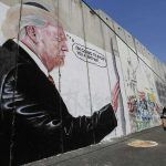 donald trump wall mural in israel build you a brother