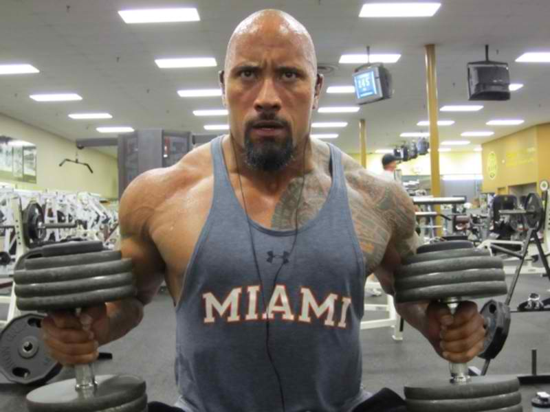 dwayne johnson thankful for no nfl career