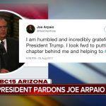 joe arpaio responds to pardon from donald trump