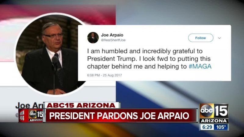 joe arpaio responds to pardon from donald trump