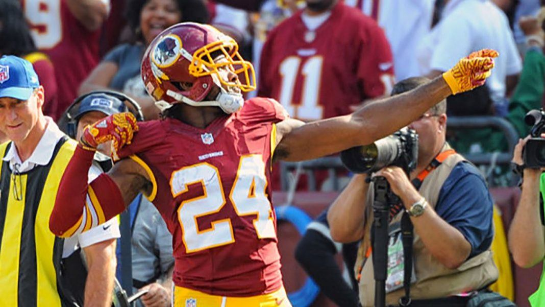 josh norman feels his bow and arrow being victimized by nfl 2017 images