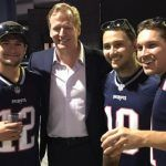 roger goodell hits first patriots game since deflategate 2017