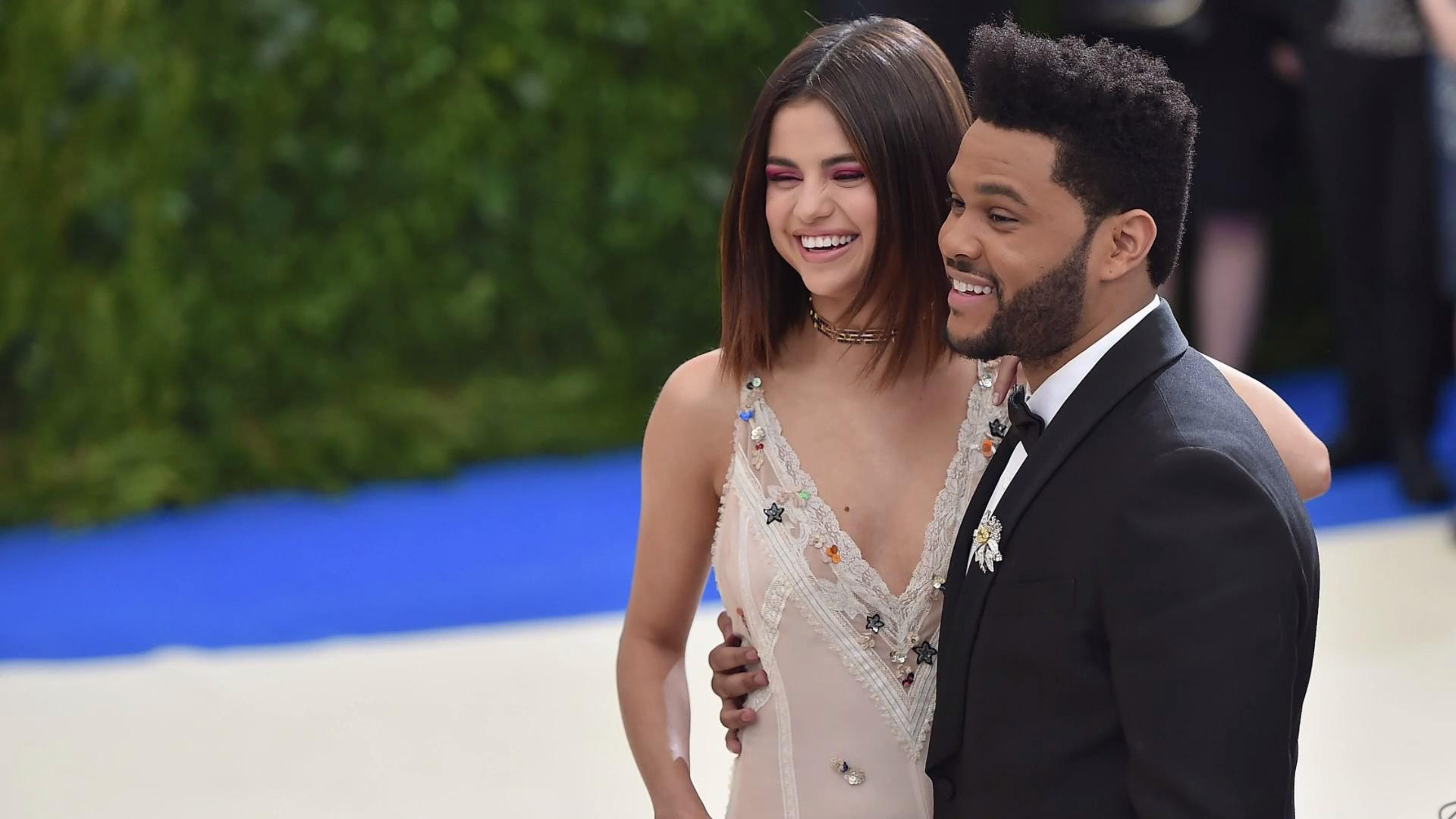 selena gomez with the weeknd 2017