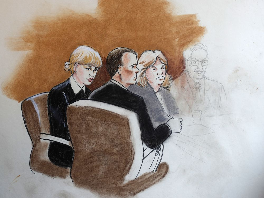 Taylor Swift courtroom sketch