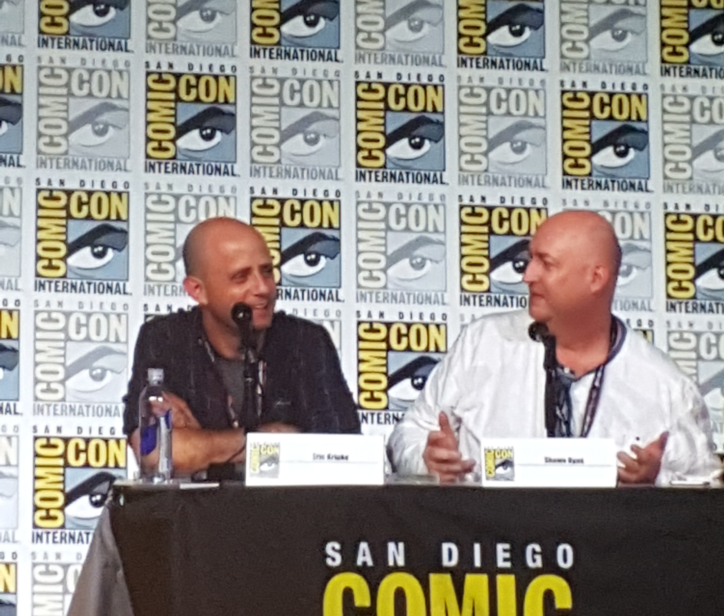 timeless eric kripke and shawn ryan comic con mttg