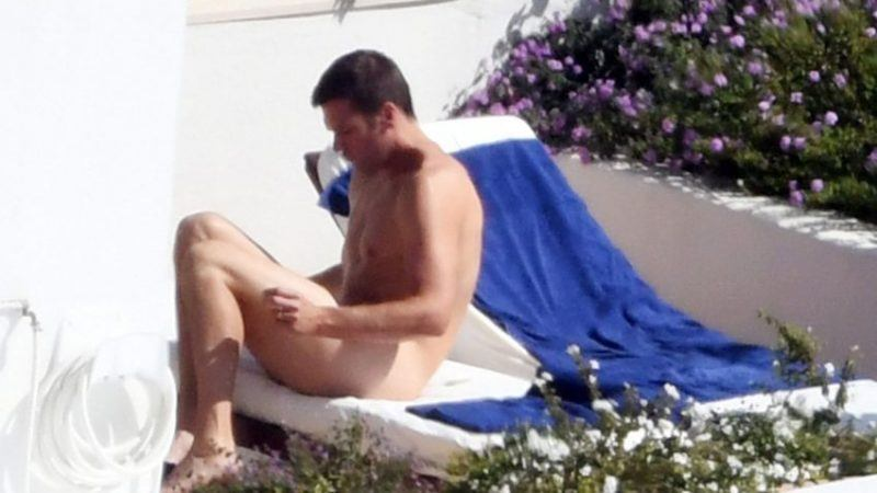 tom brady sunbathing body