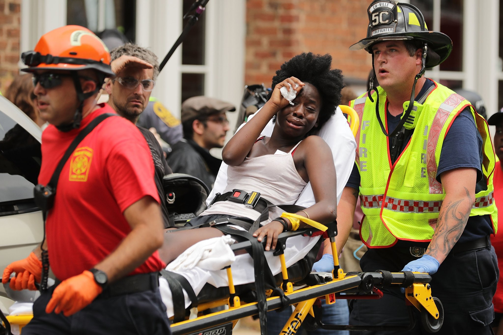 women hurt in charlottesville car driver