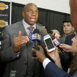 magic johnson on talking to paul george for lakers