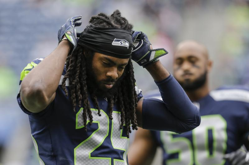 richard sherman points finger at nfl on injury reports 2017 images