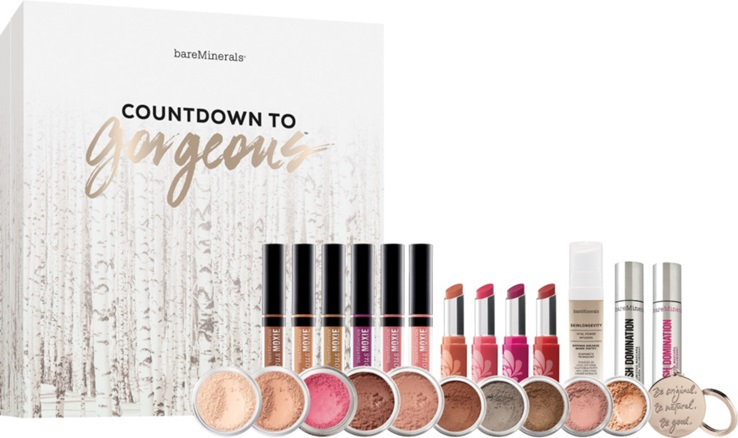 Bare Minerals Holiday Countdown to Gorgeous holiday gift guide ideas mttg