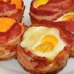 bacon wrapped eggs whole food healthy halloween breakfast
