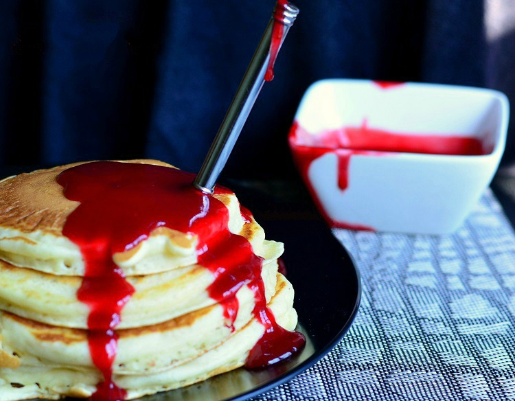 mouth watering whole food halloween bloody pancakes recipe healthy