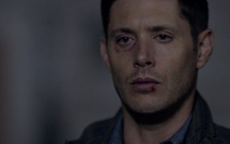 dean winchester beaten and brusied on supernatural 1301