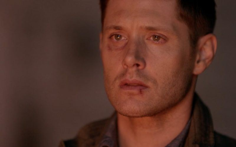 dean winchester lit by fire on supernatural 1301