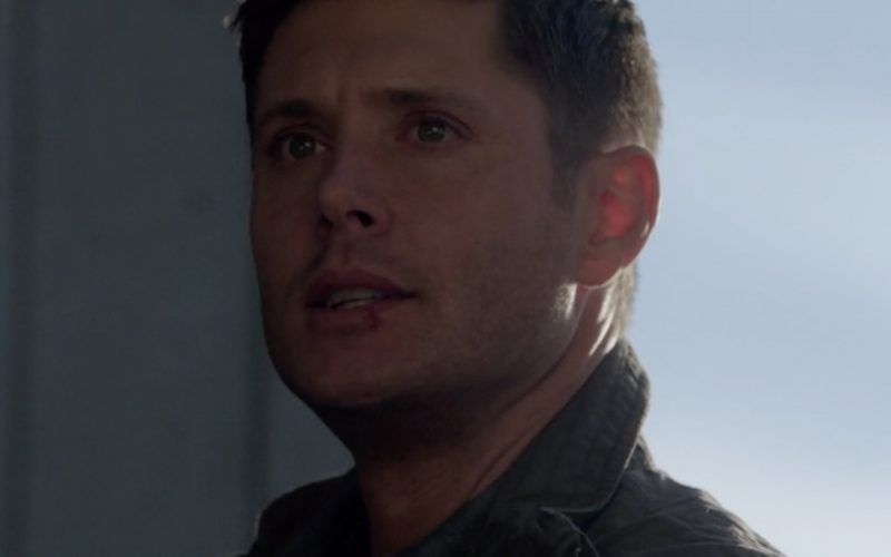 dean winchester looking up to sky upset castiel is dead