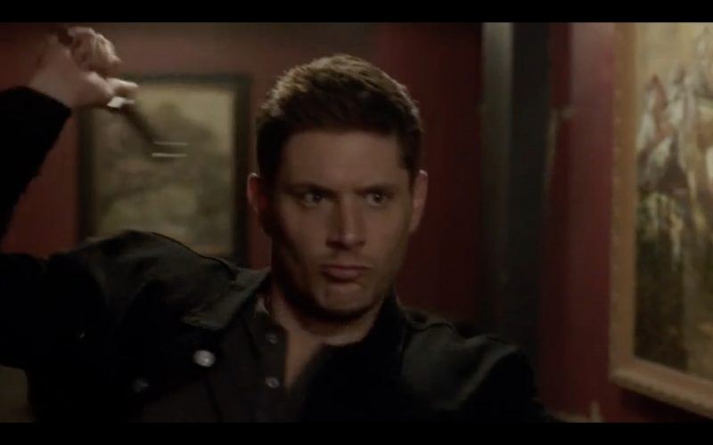 dean winchester throwing angel blade to kill demon