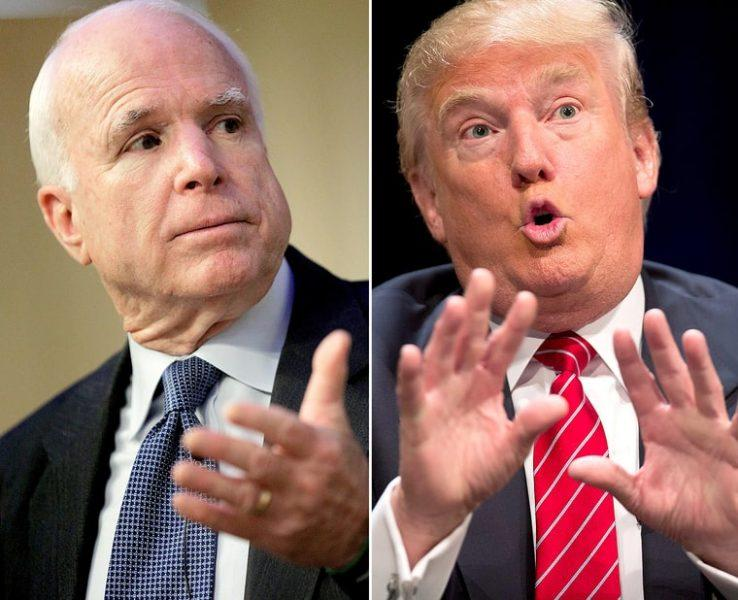donald trumps lowers the bar by warning john mccain