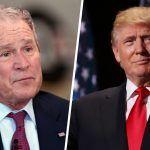 george bush breaks his silence on donald trump reign
