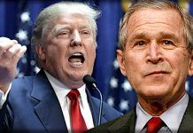 george w bush has his say on donald trump 2017 iamges
