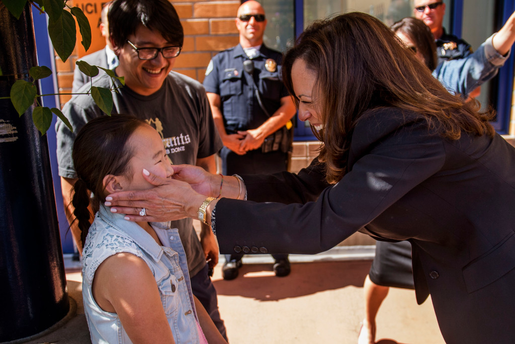 kamala harris with dreamers to fight for
