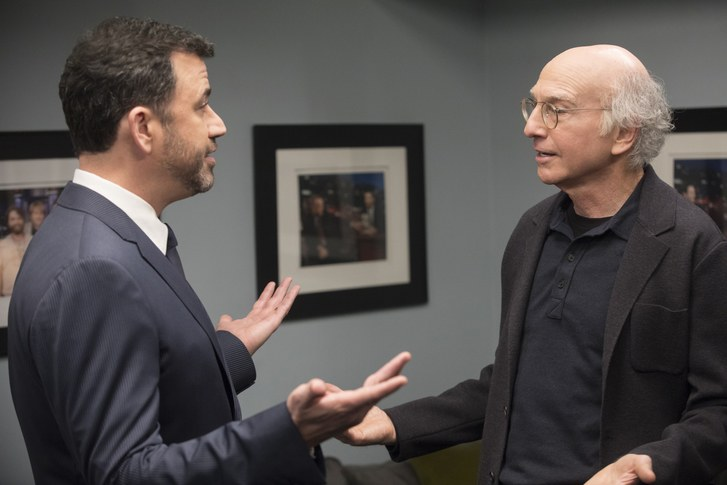 larry david with jimmy kimmel curb your enthusiasm movie tv tech geeks interview