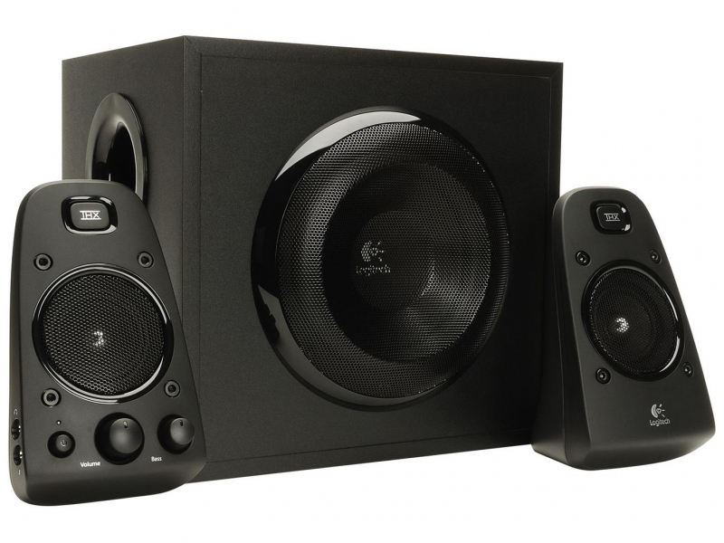 logitech z623 speaker system with subwoofer images