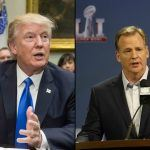 roger goodell keeps donald trump in context over anthem
