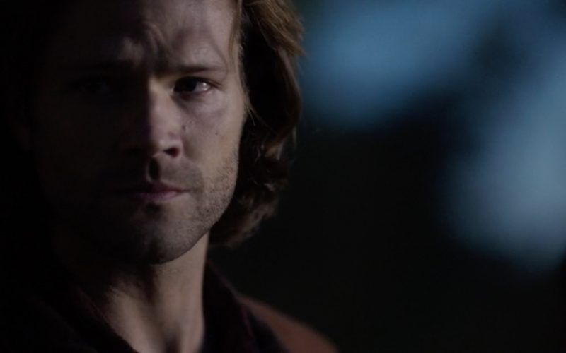 sam winchester looking angry at world for castiel mary