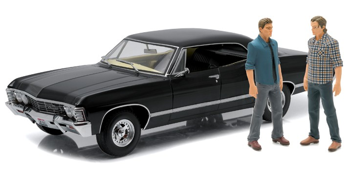 supernatural 1967 chevy impala baby model with dean sam winchester hot holiday toys