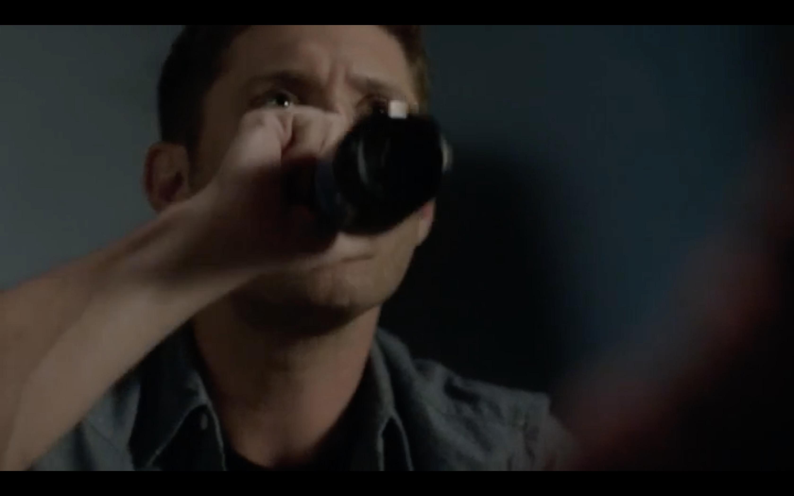 supernatural jack learning from dean drinking beer eating fries mttg