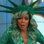 wendy williams passes out wearing statue of liberty halloween costume