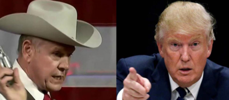 Donald Trump discounts Roy Moore sexual assault allegations 2017 images