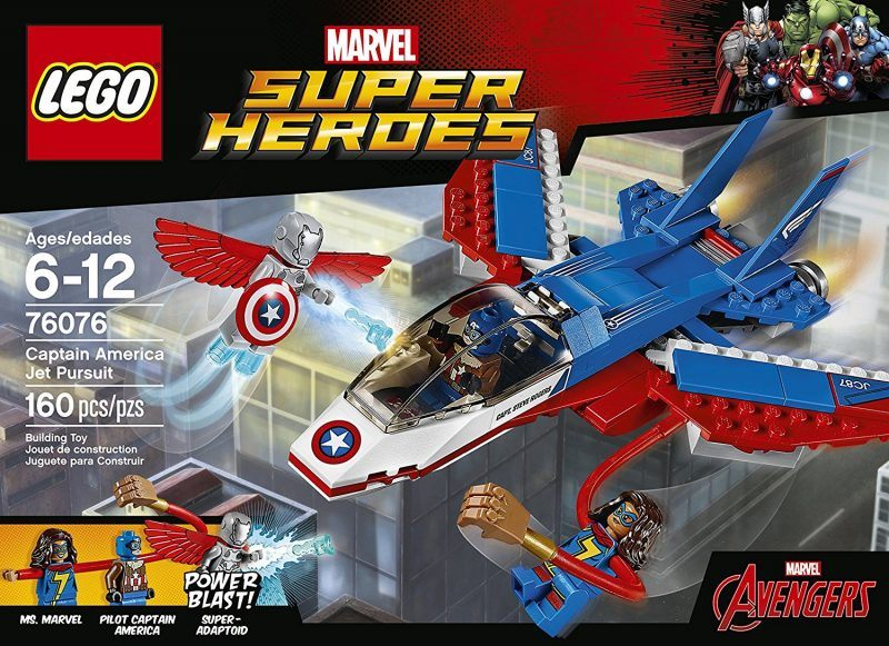 LEGO Super Heroes Captain America Jet Pursuit 76076 Building Kit (160 Pieces) 2017 hot holiday toys