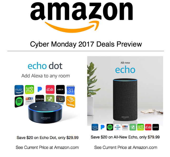 walmart vs amazon who has the best 2017 cyber monday deals movie tv tech geeks news. Black Bedroom Furniture Sets. Home Design Ideas