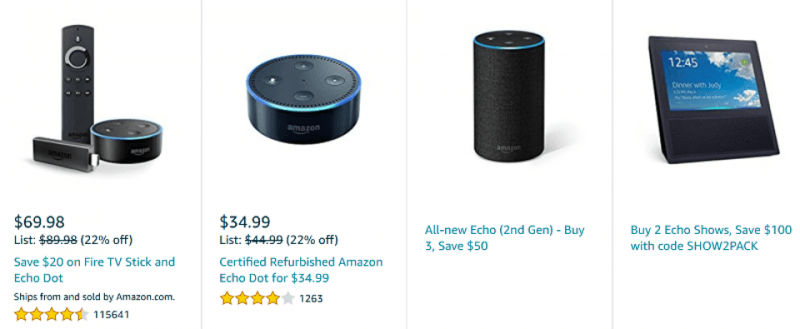 amazon echo dot and alexa voice cyber monday