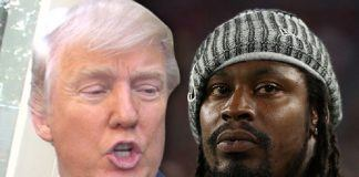 donald trump inserts himself into nfl and nba with marshawn lynch lavar ball 2017 images