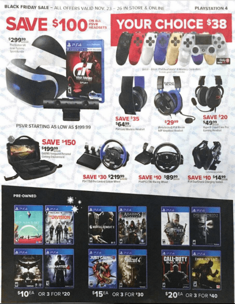 gamestop 2017 black friday ps vr headsets and games deals