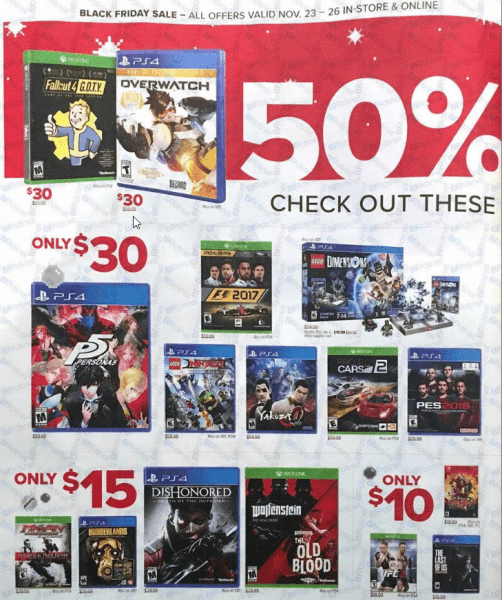gamestop 2017 black friday ps4 xbox one game deals