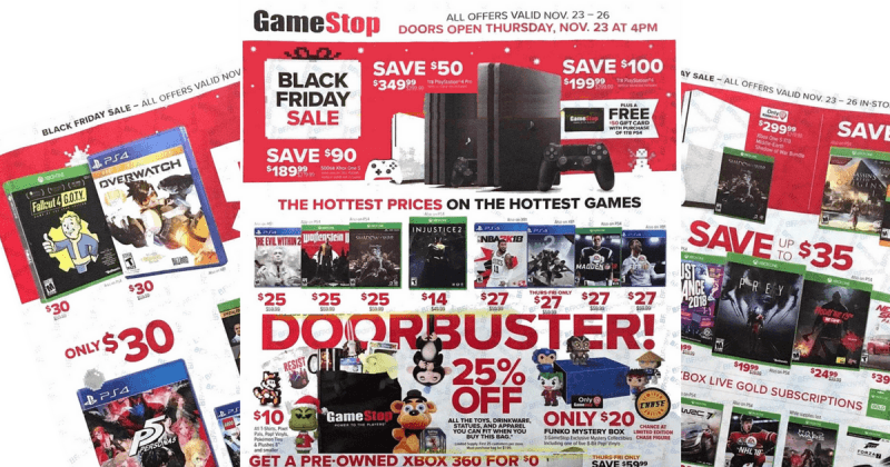 gamestop hottest black friday game holiday deals