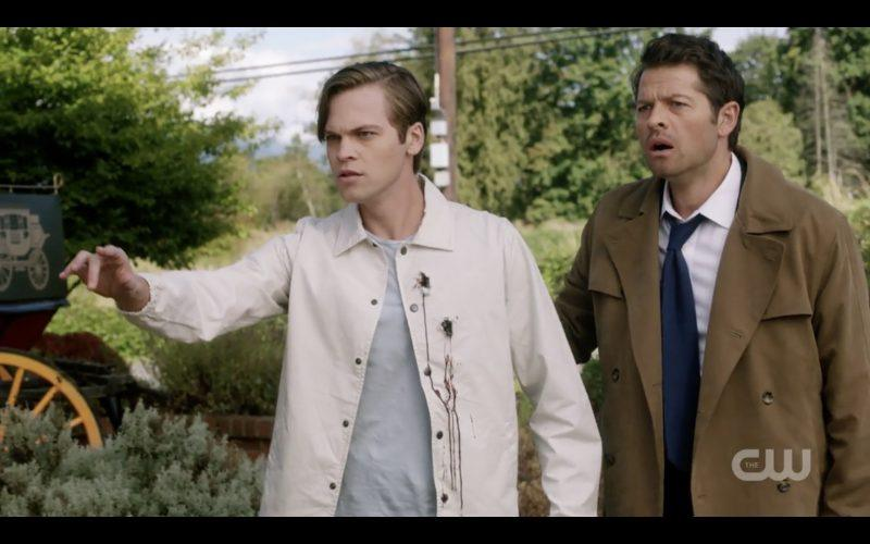 jack with supernatural castiel pointing
