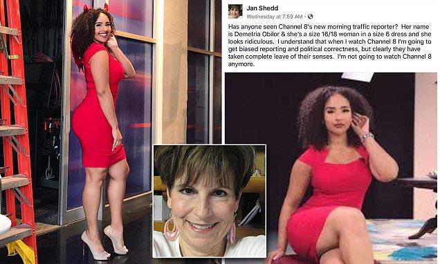 jan shedd body shaming demetria oblior channel 8 news