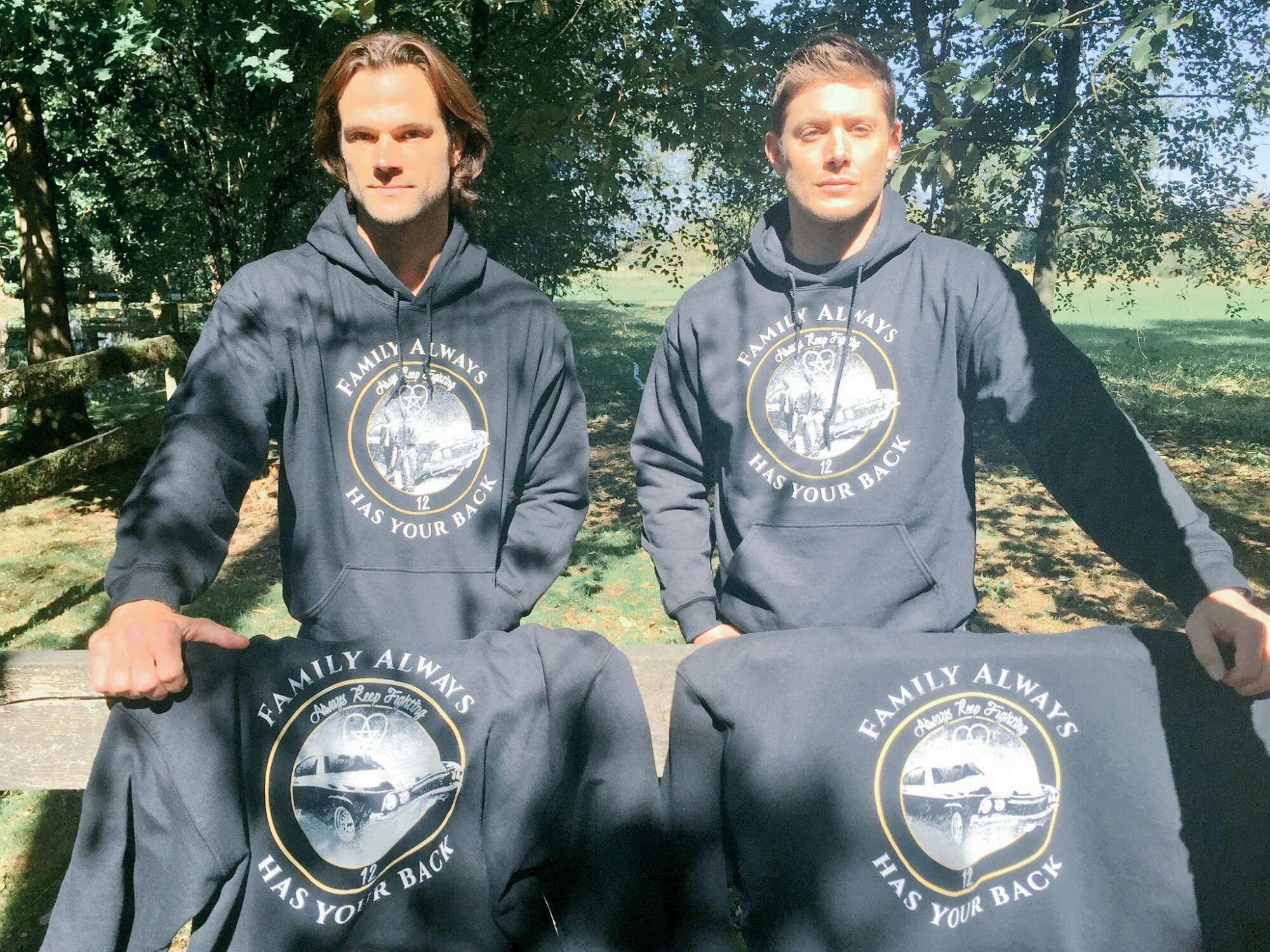 jared padalecki family always has your back shirts