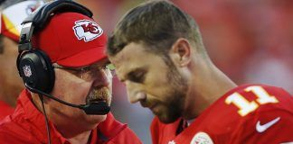 Kansas City Chiefs Andy Reid sticking by Alex Smith 2017 images